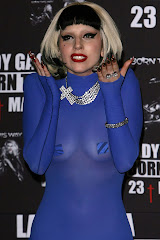 Lady Gaga's Boobs Transparent Blue In Mexico City Www
