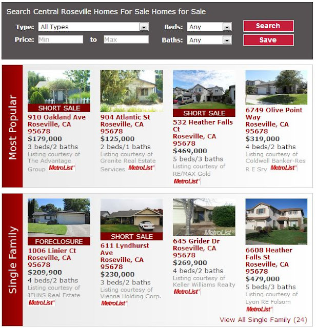 Central Roseville Homes For Sale