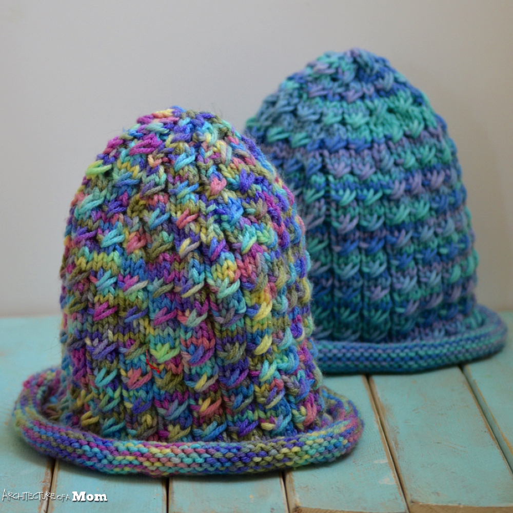 Architecture of a Mom: Easy Faux Cable Knit Hat