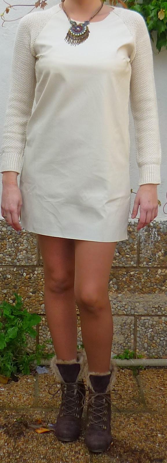 vestido piel blanco