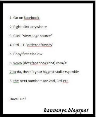 COOL : Tips untuk mengetahui siapa yang selalu stalk facebook anda