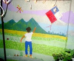 Mural en el jardín