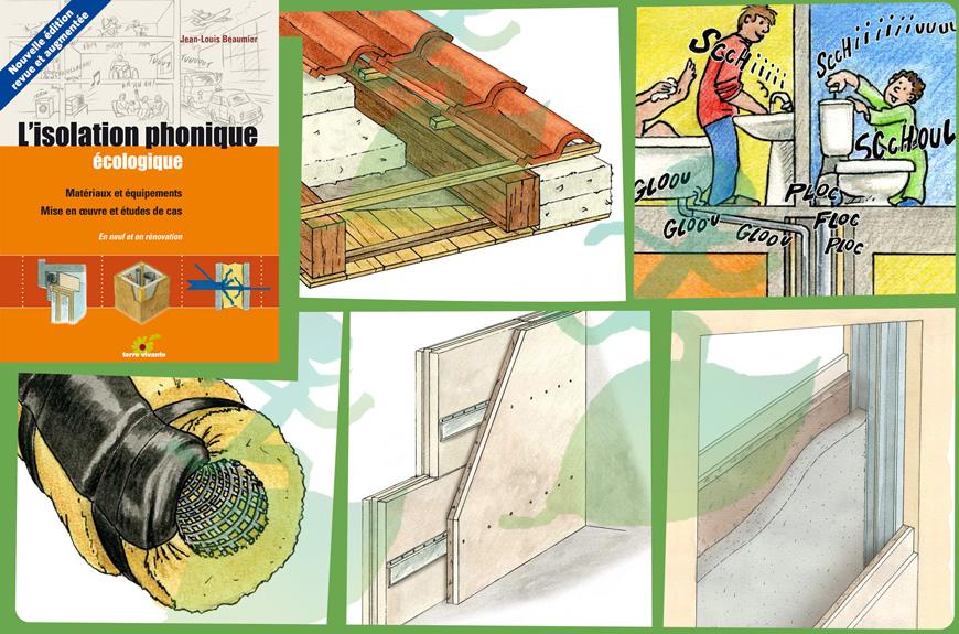 l'isolation phonique écologique jean louis beaumier hervé nallet illustration http://graphisme-environnement.blogspot.fr/