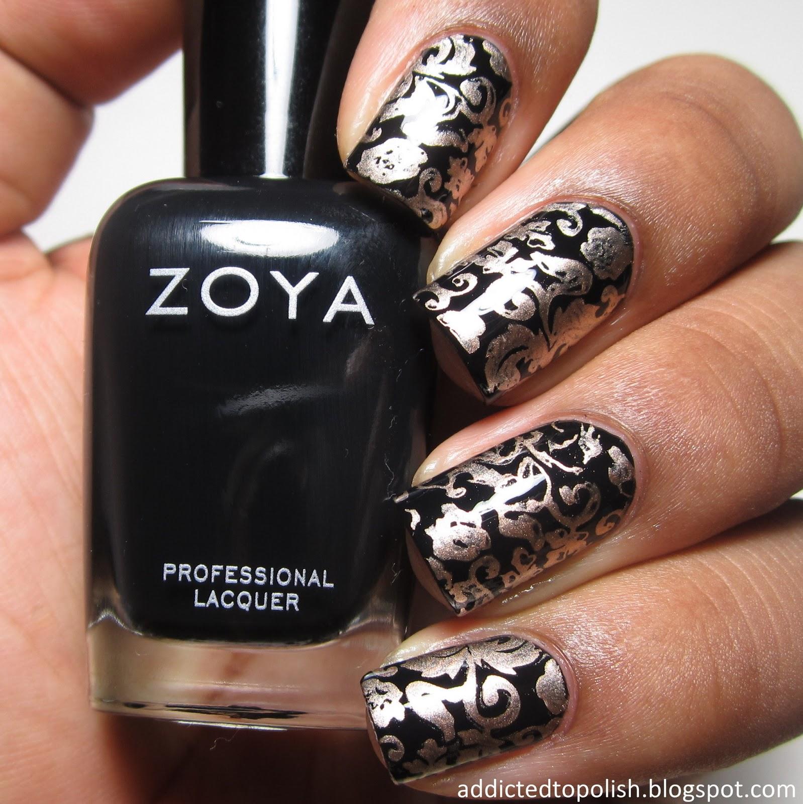 black gold stamping zoya willa china glaze 2030
