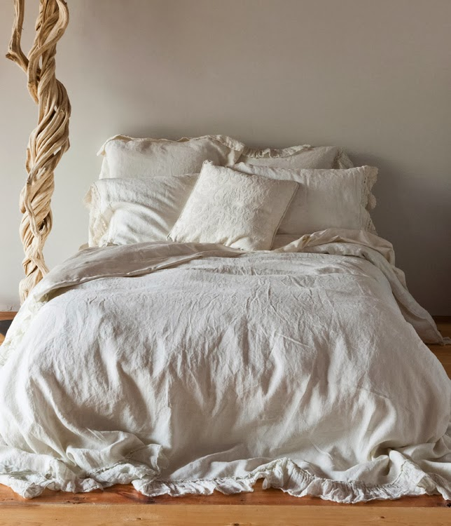 nora's nest: linen cloud bedding