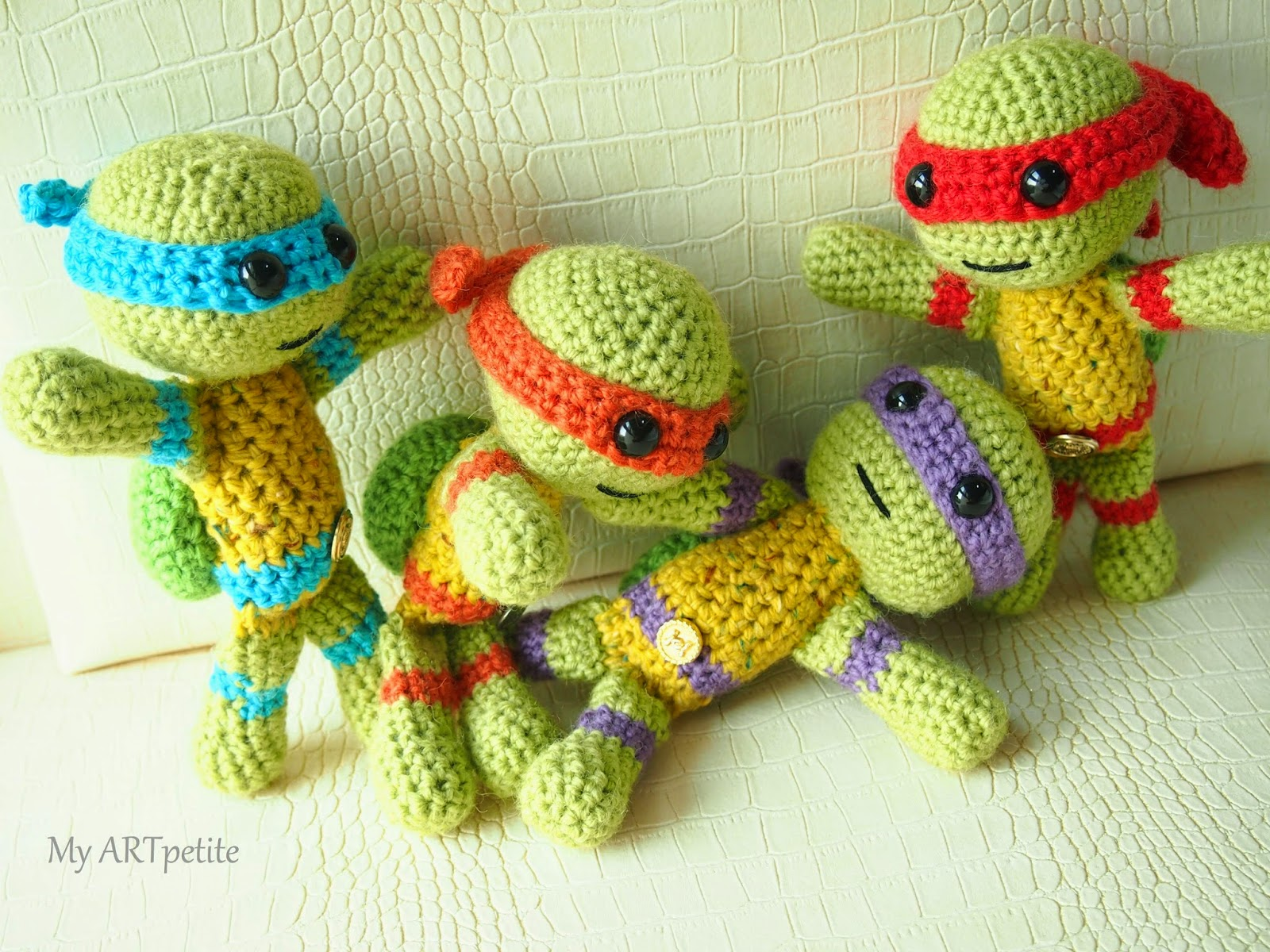 Crochet Ninja Turtle : My ARTpetite: Free Crochet Pattern: Teenage Mutant Ninja Turtles