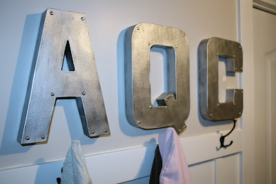 Big Aluminum Letters Copycraft Faux Metal Letters Diy  Clumsy Crafty Happy