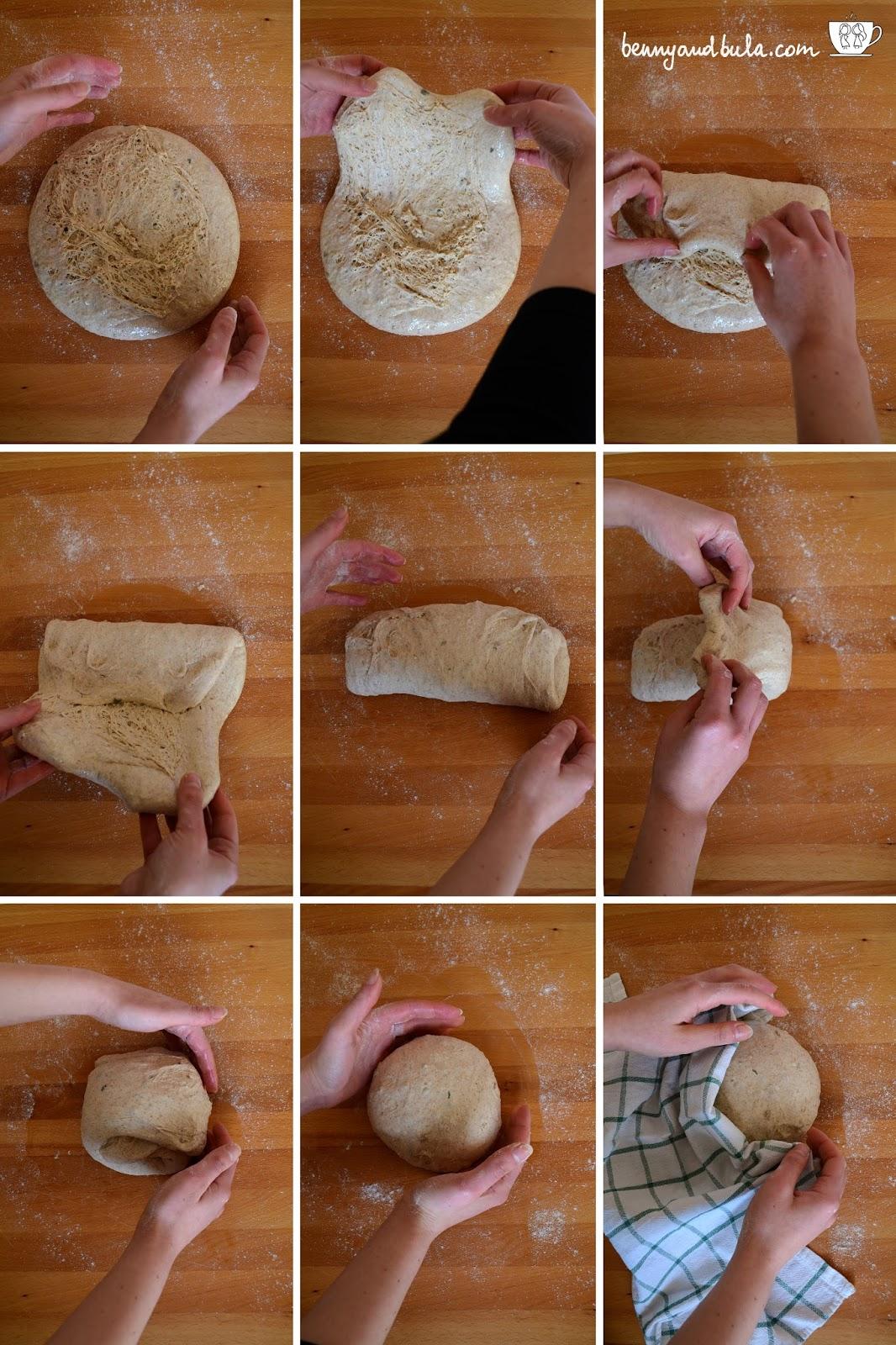 spiegazione pieghe a 3 o portafoglio/step by step bread folding tutorial