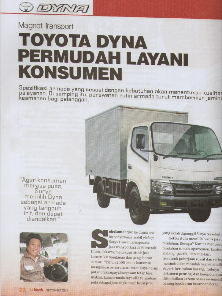 Magnet transport - Majalah ide bisnis September