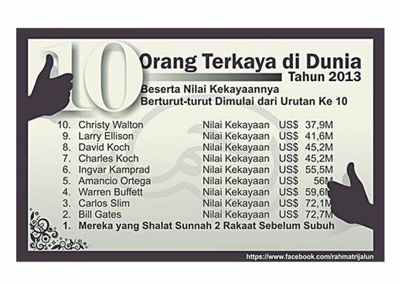 Daftar 10 Orang Terkaya di Dunia 2013 beserta Nilai kekayaannya |PKS ...
