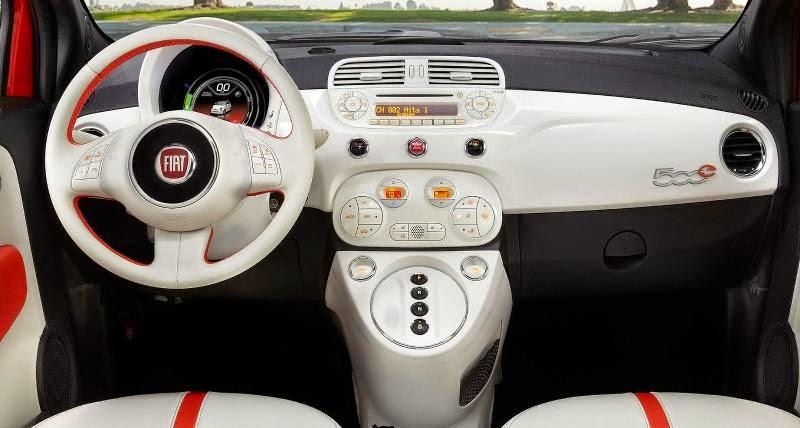 Novo Fiat 500 2014 interior acabamento