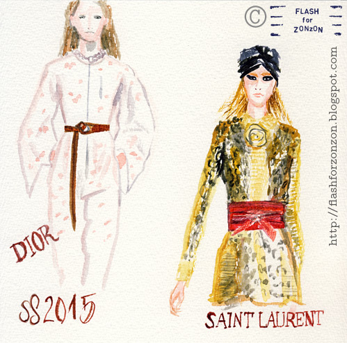 Catwalk SS 2015. Dior and Saint Laurent.