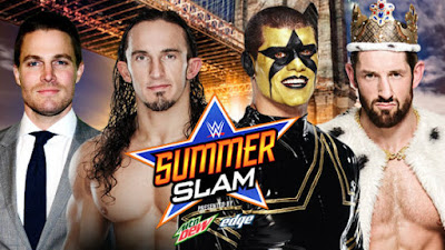 Amell and Neville face off against Stardust and Barrett at 2015 WWE PPV SummerSlam
