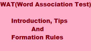how to form sentences in WAT( Word Association Test) in SSB