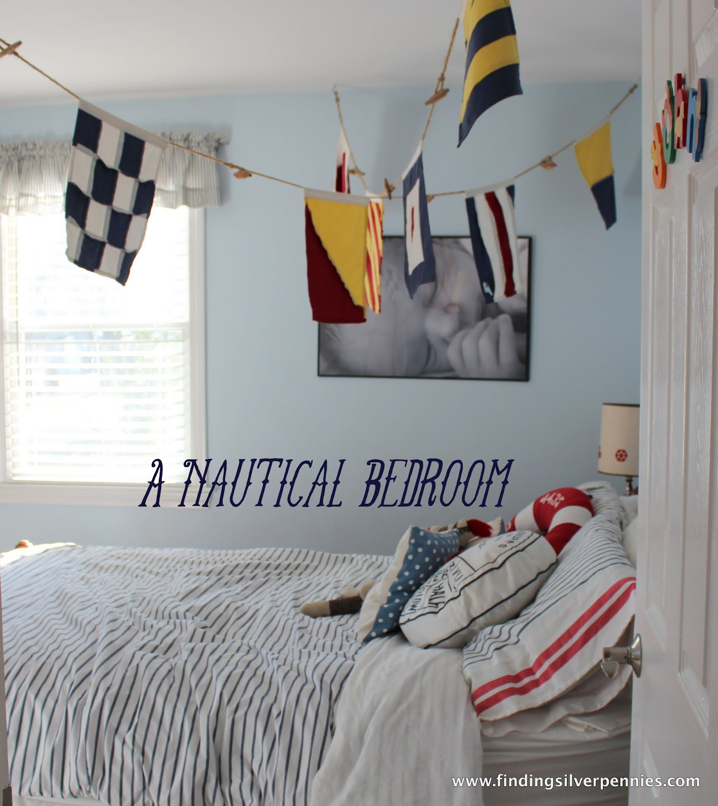 A Nautical Bedroom Finding Silver Pennies