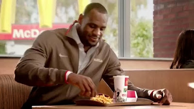 Lebron James Eating McDonalds