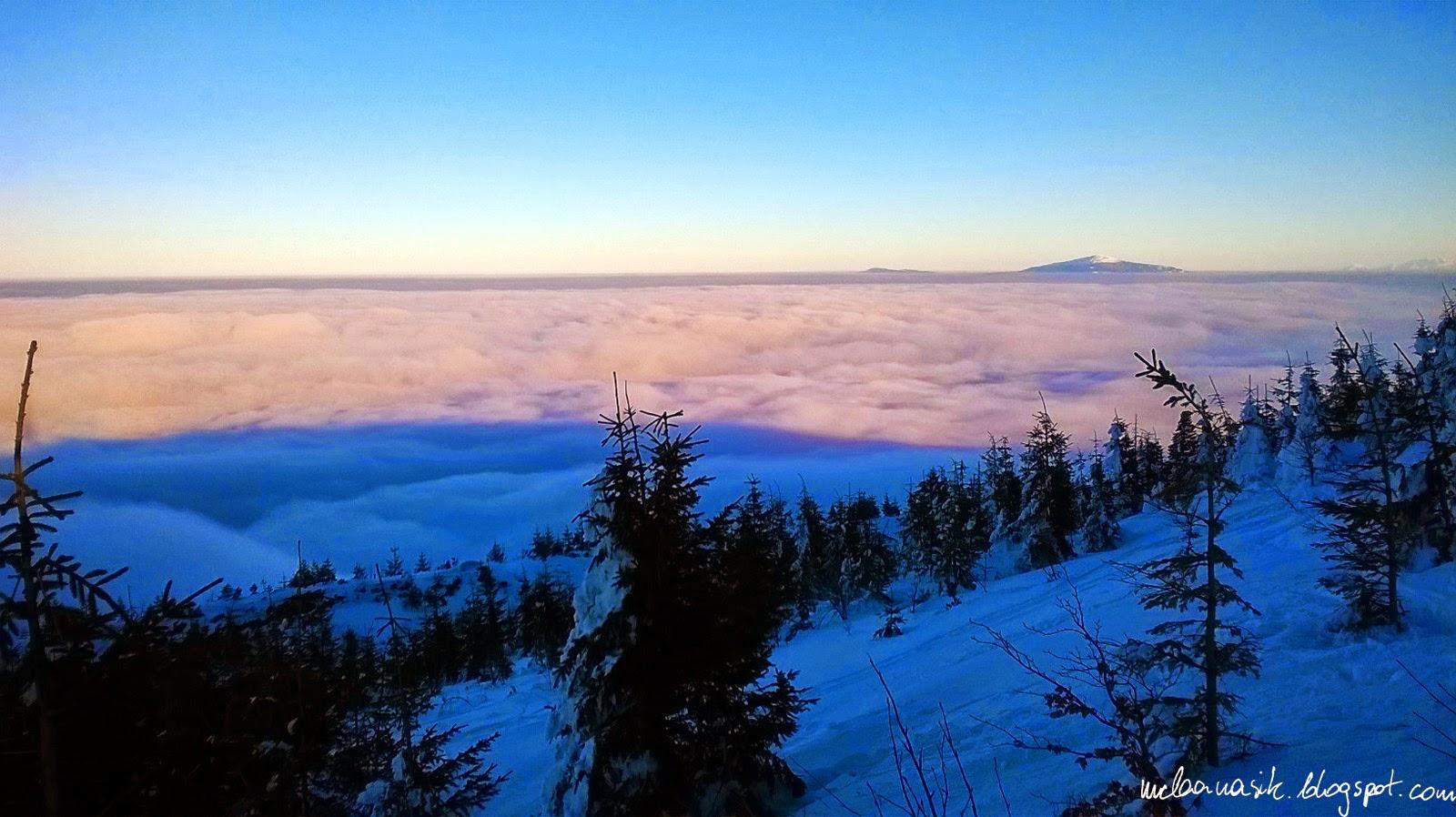 maciej, banasik, skrzyczne, szczyrk, góry, beskid, śląsk, chmury, babia, góra
