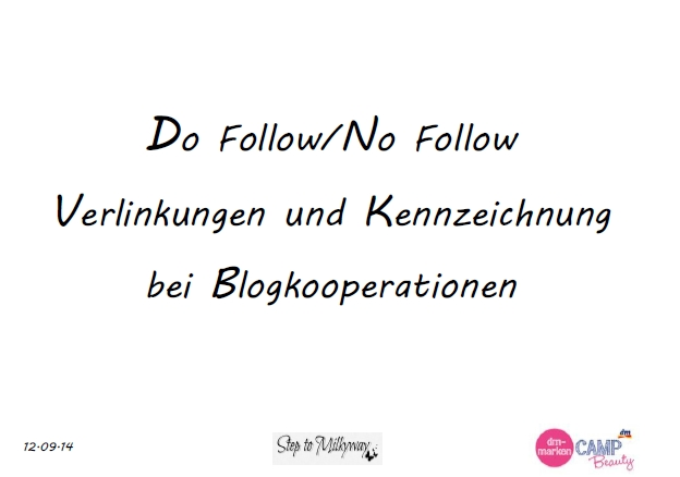 Do Follow/No Follow Verlinkungen und Kennzeichnung bei Blogkooperationen