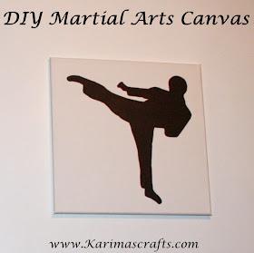 diy martial arts canvas