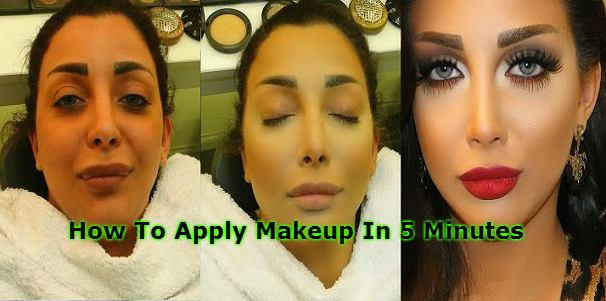 How To Apply Makeup In 5 Minutes