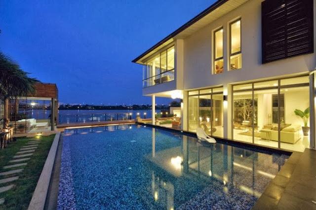 contoh desain rumah minimalis dengan keindahan alam