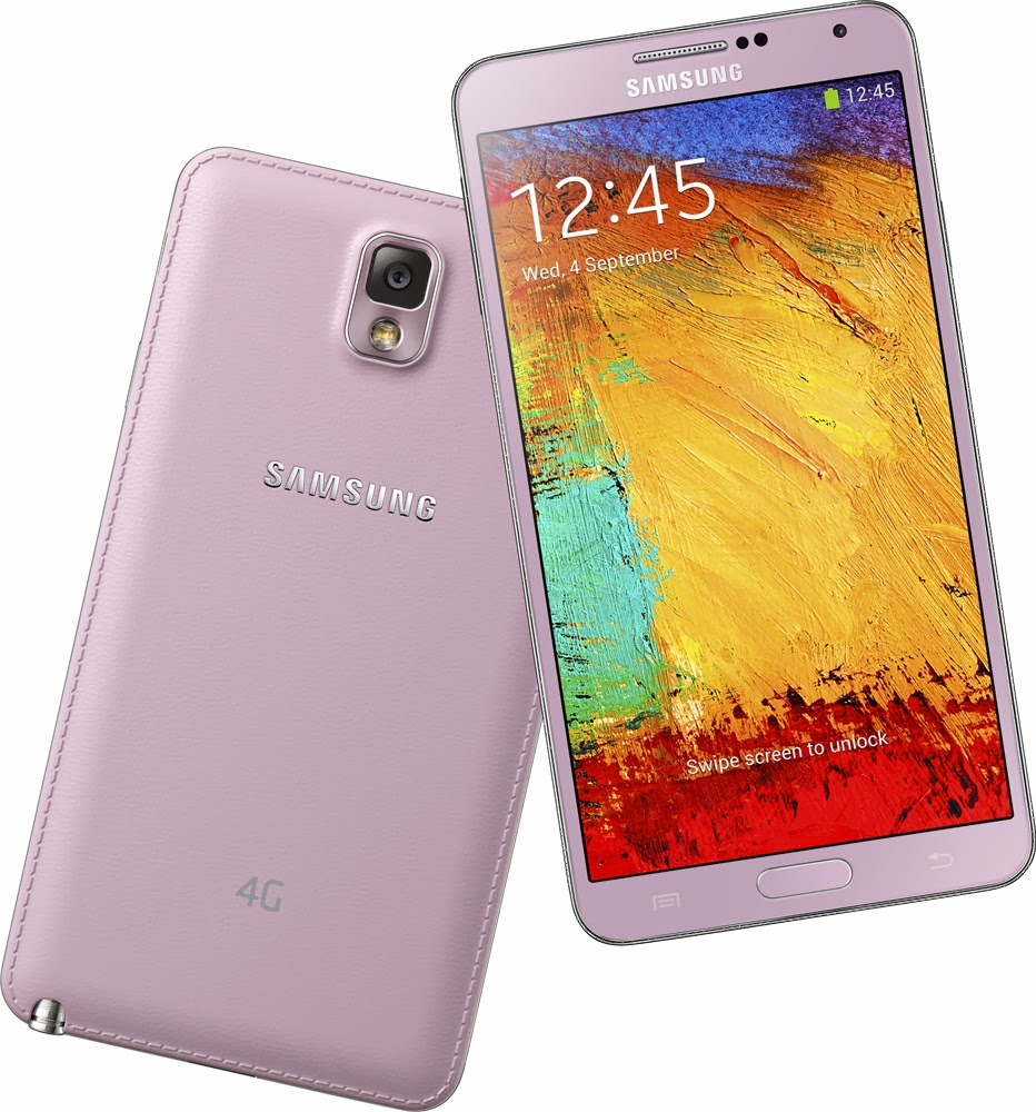Samsung GALAXY Note 3 With LTE (in Blush Pink) and GALAXY ...