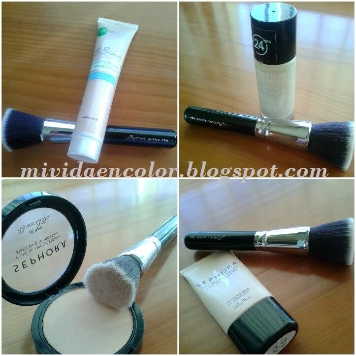 brocha-maquillaje-zoeva-104-buffer-comparativa-bases-maquillaje- BB-garnier-revlon-colorstay-pieles-pixtas/grasas-sephora-bases de maquillaje de sephora