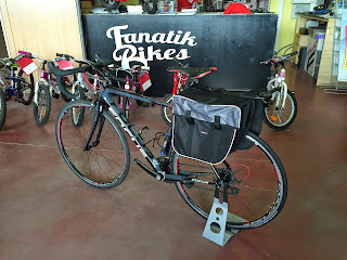 Panniers in our carbon bikes (Montefusco Cycling)
