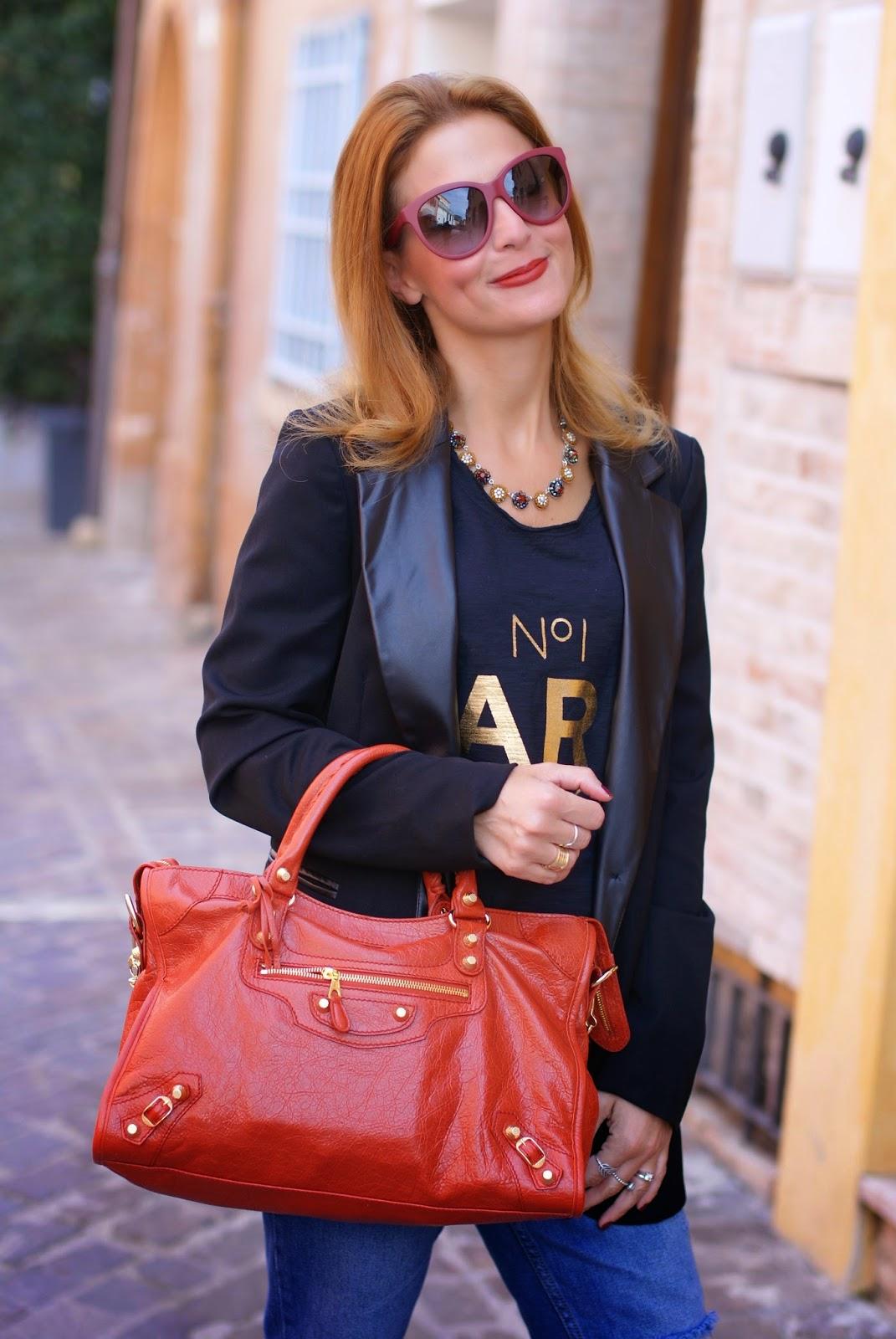 Sodini bijoux new fall winter collection, Balenciaga bag rouge ambre, Fashion and Cookies, fashion blogger