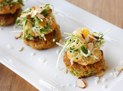 Lisa is cooking carrot pancakes with hummus and feta salad - The modern vegetarian kitchen ...