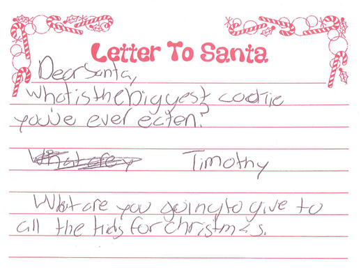 want to write a letter to santa