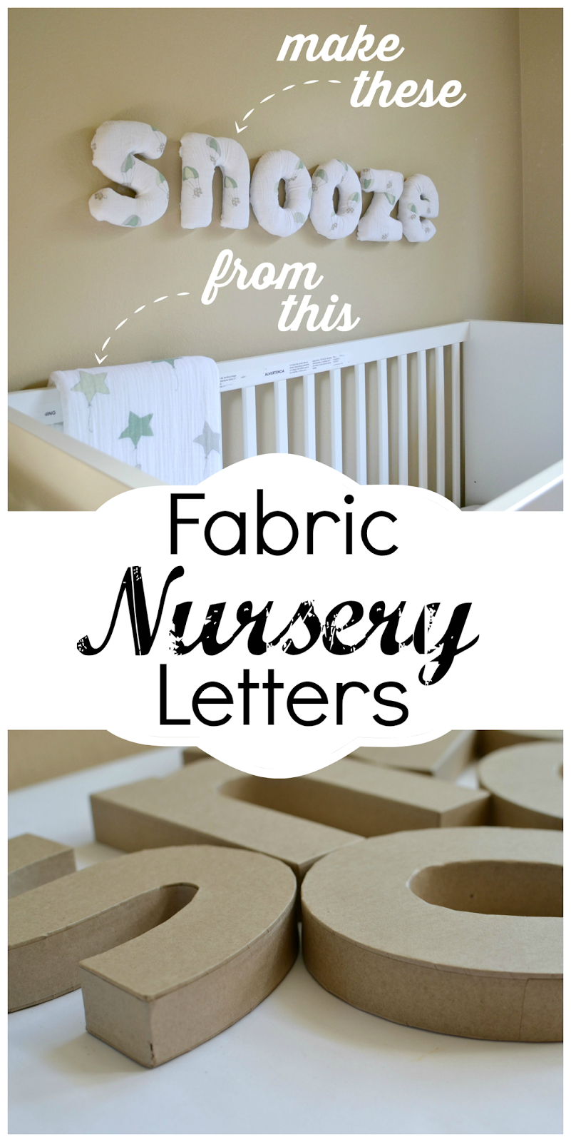 Mommy Testers, How to make fabric covered letters, how to make fabric wall letters, easy fabric covered letters, DIY nursery letters, Fabric letters using swaddle blanket, Aden and Anais up up and away,