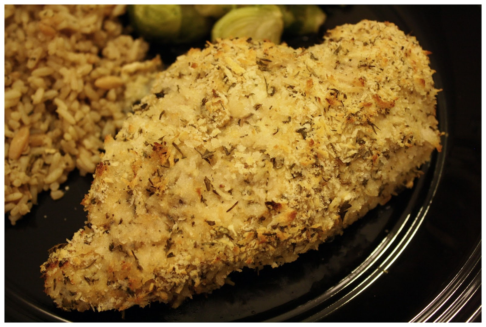 This and That: Mustard-Herb Panko-Crusted Chicken