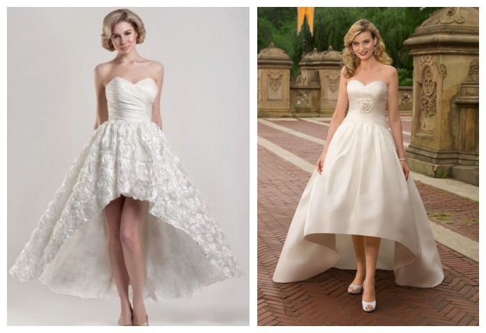 high-low ball gown wedding dress