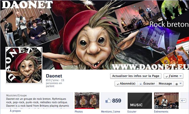 Page Facebook de Daonet en avril 2014