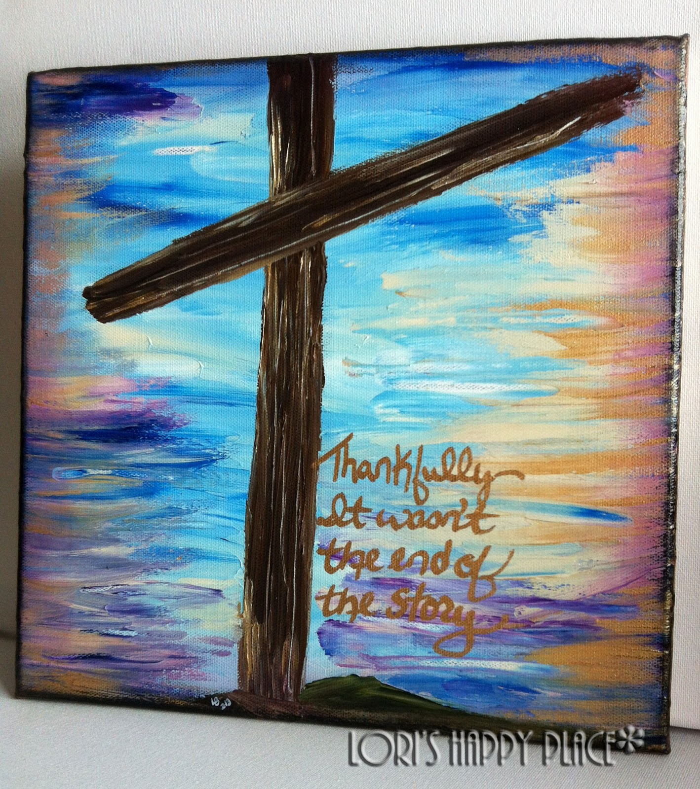 Lori 39 s happy place what 39 s so good about good friday art show for Cross paintings on canvas