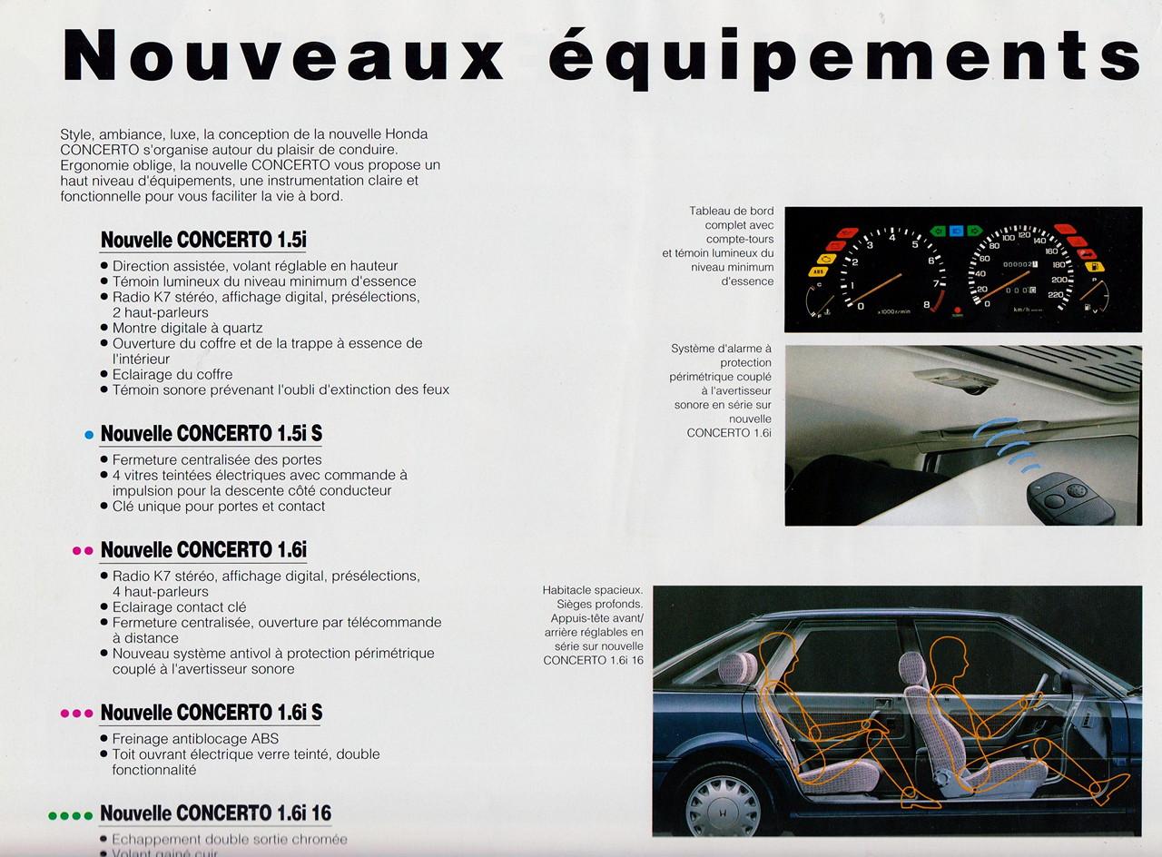 Honda Concerto, wersje, japoński samochód z lat 90, zdjęcia, galeria, wnętrze