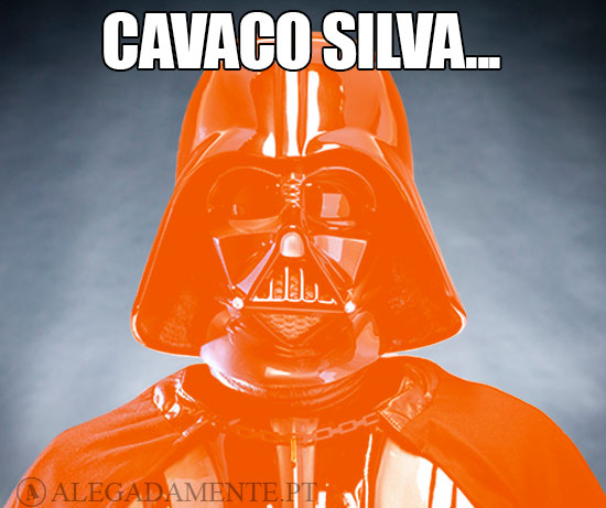Dark Vader em laranja – Cavaco Silva…