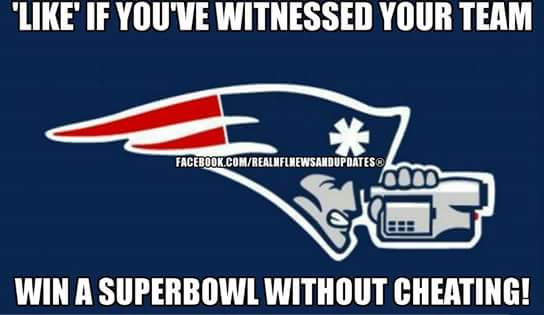 #patriotshaters #cheatriots #nfl #cheating #like.- 'like' if you've witnessed your team win a superbowl without cheating!