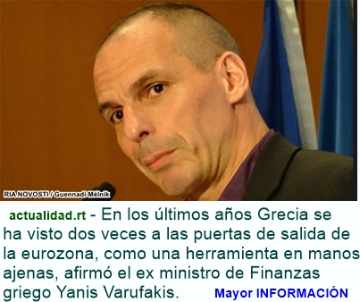 """MUNDO: Varufakis: """"Nuestros socios no iban a permitir un acuerdo digno con Grecia"""""""