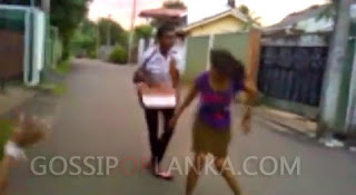 Sri Lankan Girl and Boy Fighting On The Road - Wariyapola Incident Part:2