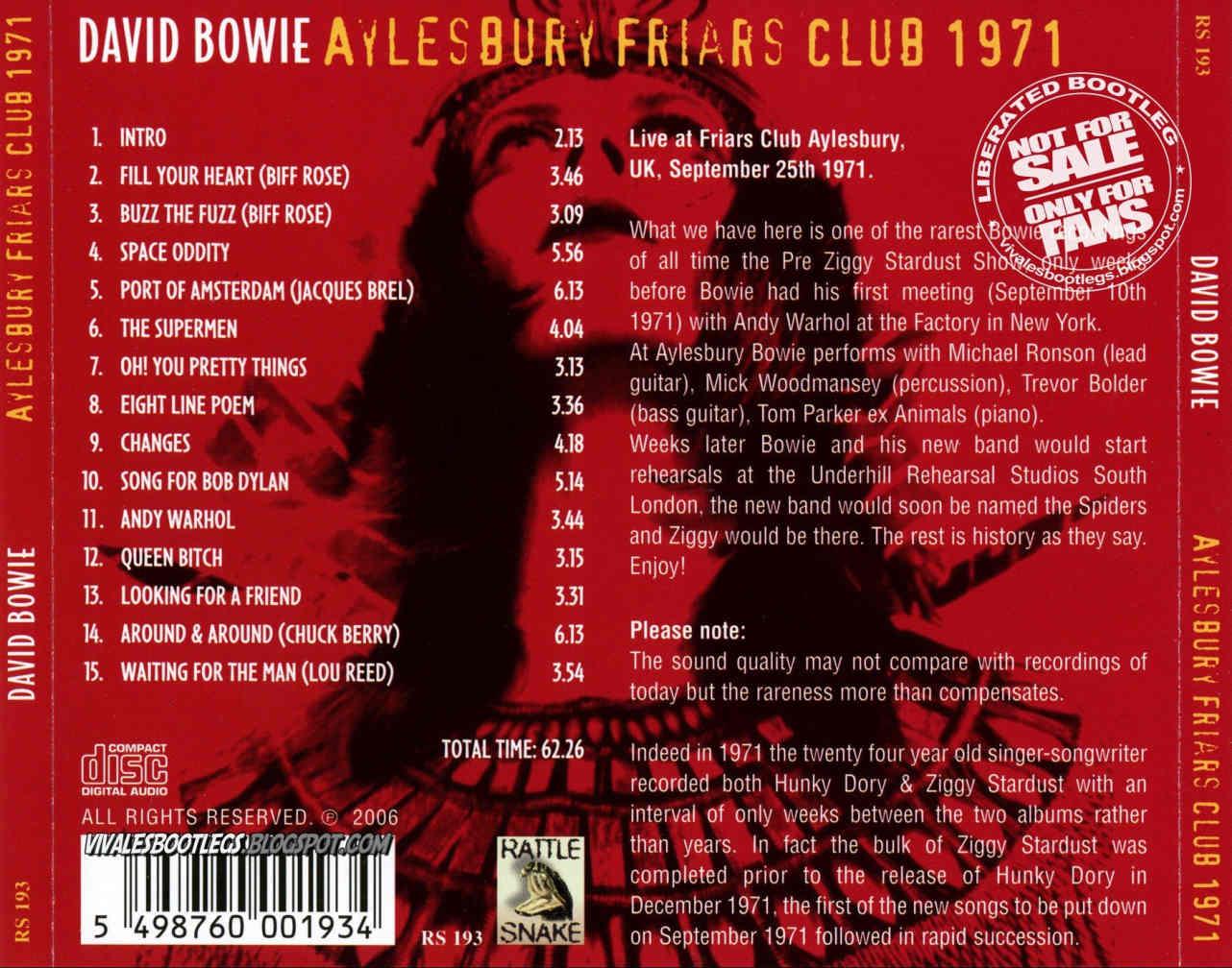 David Bowie - Aylesbury Friars Club 1971