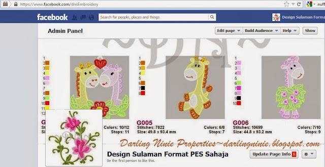 Design Sulaman Format PES Sahaja