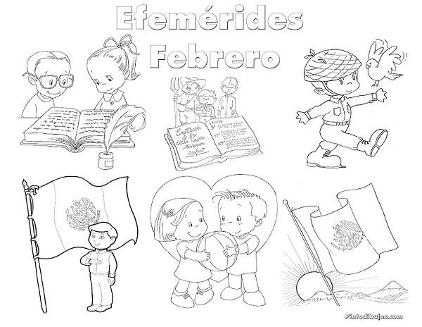 Efemerides De Febrero Para Colorear