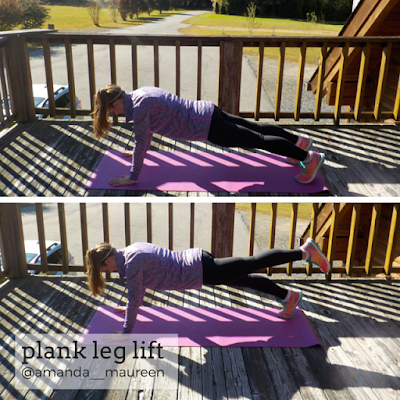 Workout Wednesday, Leg Workout, HIIT, Plank Leg Lift