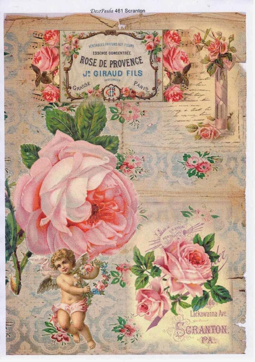 Vintage el glamour de anta o l minas para decoupage 1 - Laminas antiguas para cuadros ...