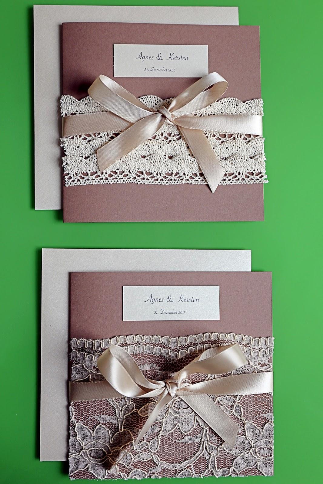 DIY, selbstgemachte Hochzeitseinladungen (Vintage, Spitze) (wedding ...
