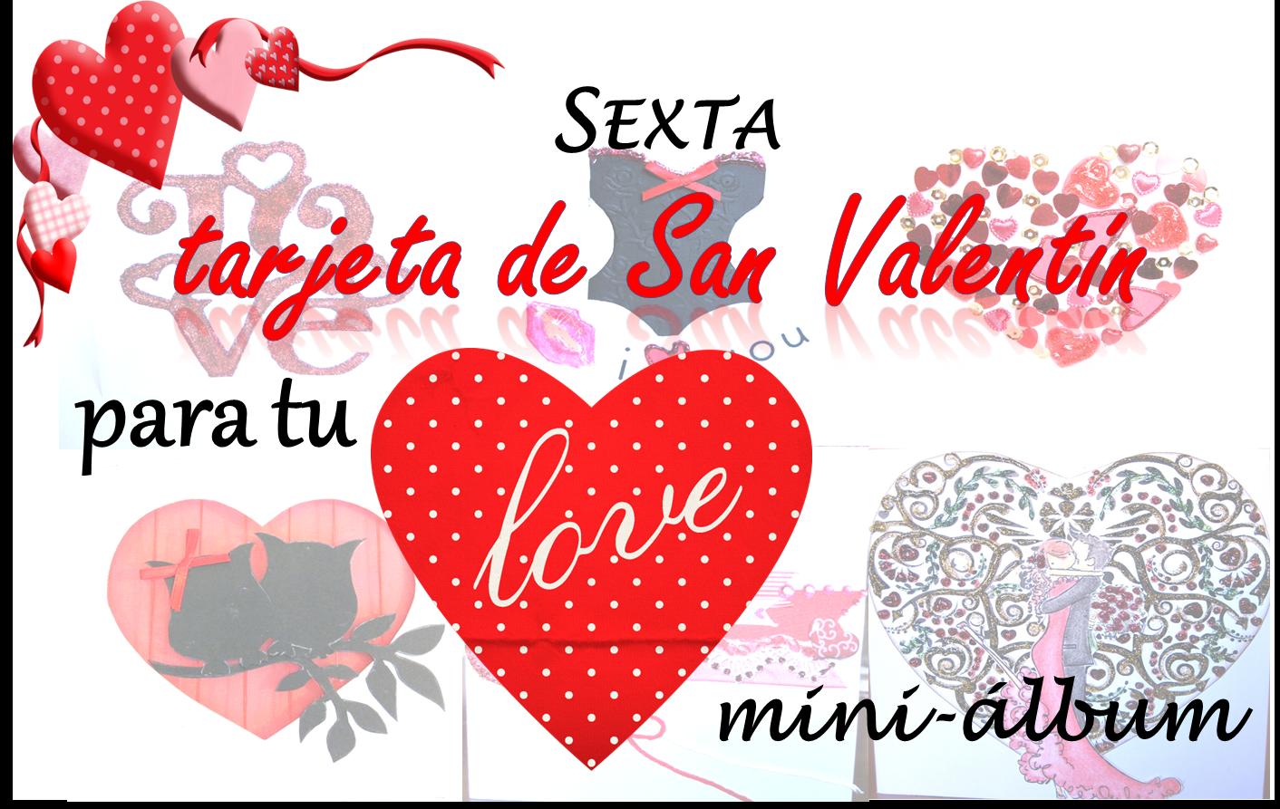 portada sexta tarjeta de scrapbooking de San Valentin para hacer un LOVE mini-álbum portada