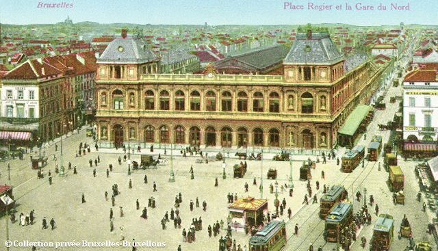Place Rogier - Gare du Nord - Début du XXe siècle - Années 1900 - Bruxelles-Bruxellons