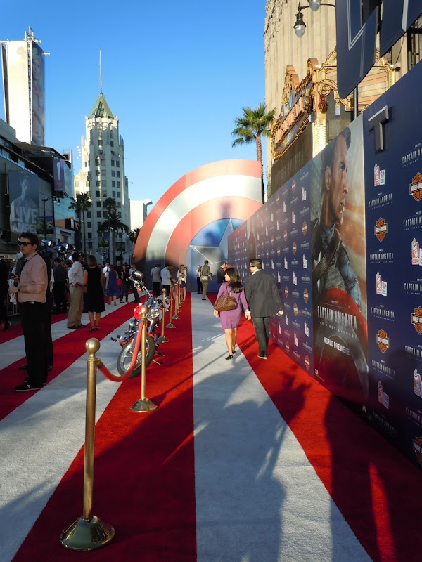 Captain America Premiere stars and stripes carpet